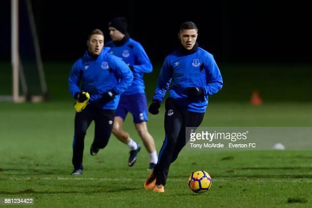 Muhamed Besic during the Everton training session at USM Finch Farm on November 28 2017 in Halewood England