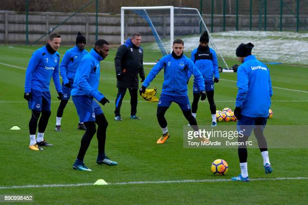Muhamed Besic during the Everton training session at USM Finch Farm on December 12 2017 in Halewood England
