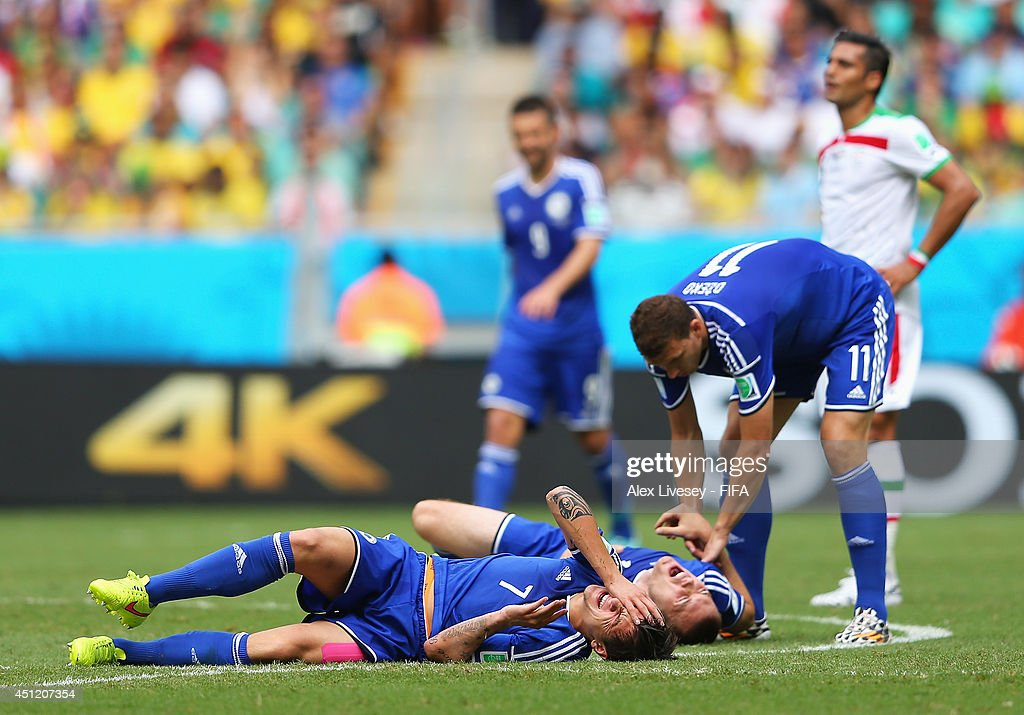 Muhamed Besic Of Bosnia And Herzegovina And His Teammate