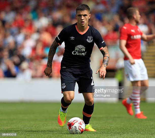 Muhamed Besic of Everton during the preseason friendly match between Barnsley and Everton at Oakwell Stadium on July 23 2016 in Barnsley England n