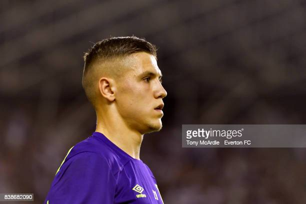 Muhamed Besic of Everton during the UEFA Europa League Qualifying PlayOffs round second leg between Hajduk Split and Everton on August 24 2017 in...
