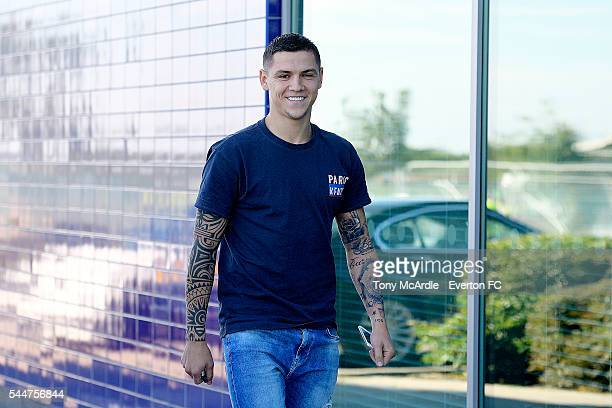 Muhamed Besic of Everton returns for preseason training at Finch Farm on July 4 2016 in Halewood England