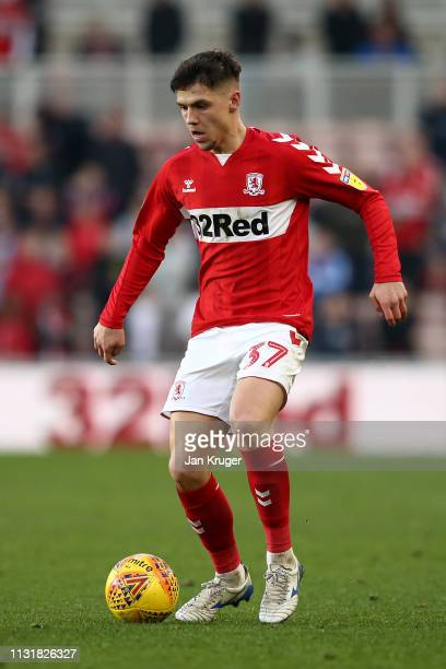 Muhamed Besic of Middlesbrough during the Sky Bet Championship match between Middlesbrough and Queens Park Rangers at Riverside Stadium on February...