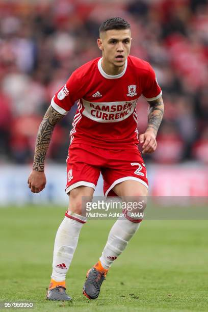Muhamed Besic of Middlesbrough during the Sky Bet Championship Play Off Semi Final First Leg match between Middlesbrough and Aston Villa at Riverside...