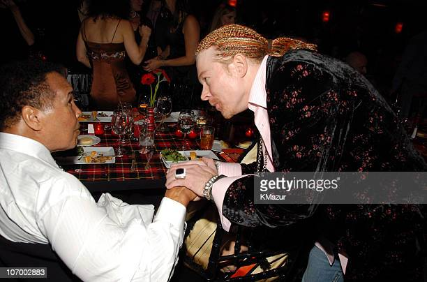 Muhammad Ali and Axl Rose **EXCLUSIVE COVERAGE** during A Funny Thing Happened on the Way to Cure Parkinson's 2006 Benefit for The Michael J Fox...