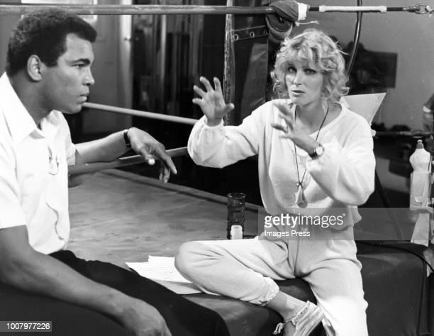 Muhammad Ali and Bo Derek circa 1980 in New York City