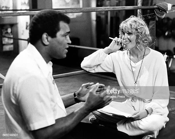 Muhammad Ali and Bo Derek circa 1980 in New York City.