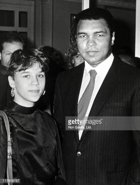 Muhammad Ali and Daughter Maryum during 'Great Sports Legends' Dinner at Waldorf Astoria in New York City New York United States