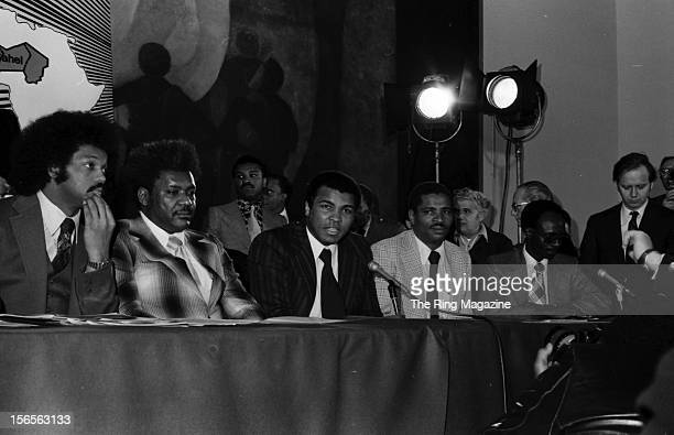 Muhammad Ali and Don King stating that his proceeds from his upcoming fight against Chuck Wepner, would go for help Africans in the Sahel drought...