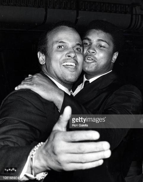 Muhammad Ali and Harry Belafonte during 31th Annual Beaux Arts Ball in New York City New York United States