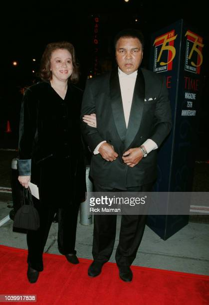 Muhammad Ali and his wife arrive at the Radio City Music Hall