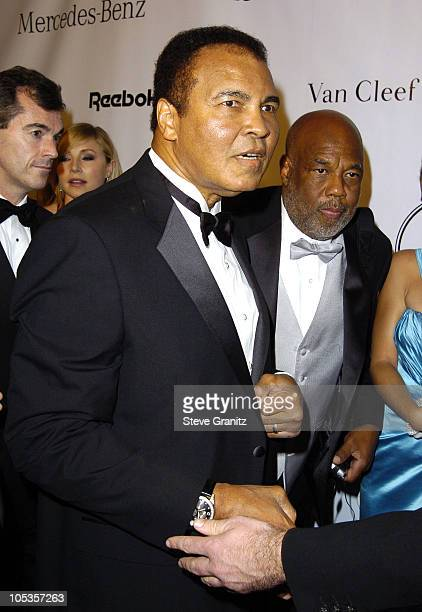 Muhammad Ali and Howard Bingham during Mercedes Benz Presents the 16th Annual Carousel Of Hope Gala Arrivals at Beverly Hilton Hotel in Beverly Hills...