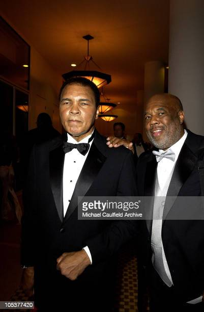Muhammad Ali and Howard Bingham during Mercedes Benz Presents the 16th Annual Carousel Of Hope Gala VIP Reception at Beverly Hilton Hotel in Beverly...