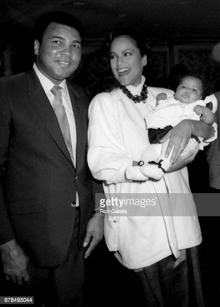 Muhammad Ali and Jayne Kennedy attend Children's Peace Foundation Benefit on February 6 1986 at the Beverly Wilshire Hotel in Beverly Hills California