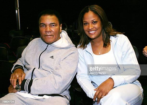 Muhammad Ali and Laila Ali