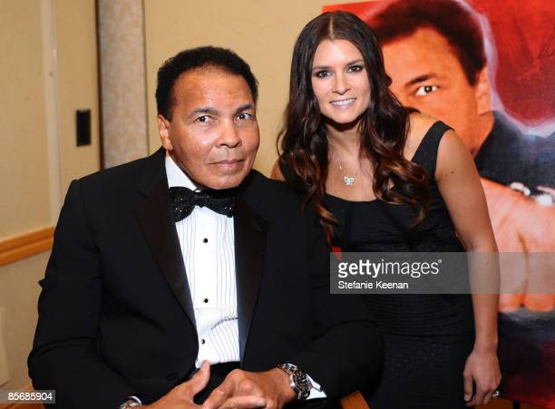 Muhammad Ali and race car driver Danica Patrick pose during Muhammad Ali's Celebrity Fight Night XV held at the JW Marriott Desert Ridge Resort Spa...