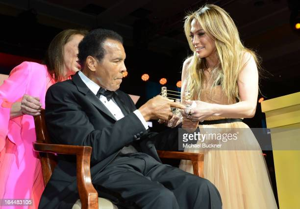 Muhammad Ali and Singer Jennifer Lopez attend Muhammad Ali's Celebrity Fight Night XIX at JW Marriott Desert Ridge Resort & Spa on March 23, 2013 in...