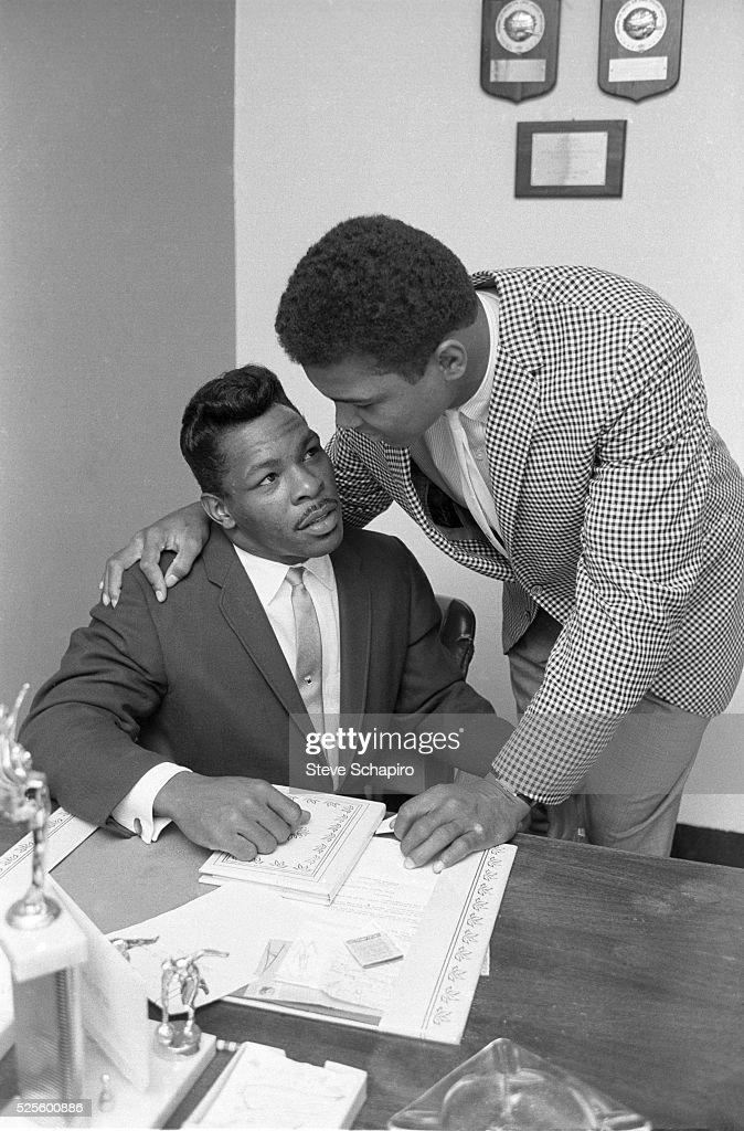 Muhammad Ali and Sugar Ray Robinson