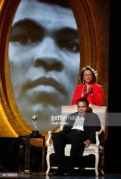 Muhammad Ali and wife Yolanda Williams accept the President's Award during the 40th NAACP Image Awards held at the Shrine Auditorium on February 12...