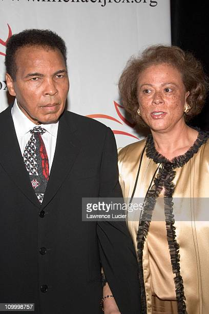 Muhammad Ali and Yolanda Williams during A Funny Thing Happened on the Way to Cure Parkinson's A Benefit Evening for The Michael J. Fox Foundation...