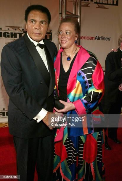 Muhammad Ali and Yolanda Williams during Celebrity Fight Night Arrivals at JW Marriott Desert Ridge in Phoenix AZ United States