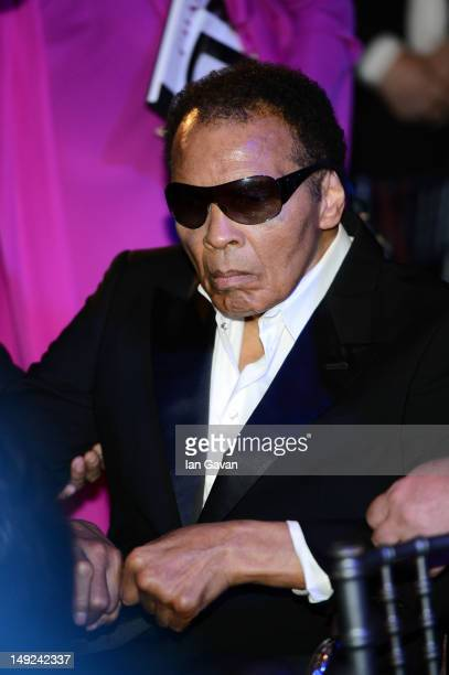 Muhammad Ali attends the Sports For Peace Fundraising Ball at The VA on July 25 2012 in London England