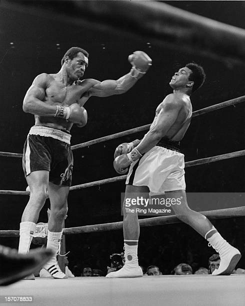 Muhammad Ali avoids the left punch from Ken Norton during the fight at the Forum on September 101973 in InglewoodCalifornia Muhammad Ali won the NABF...