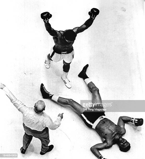 Muhammad Ali celebrates after knocking out Cleveland Williams during the fight at the Astrodome in Houston Texas Muhammad Ali won the World...