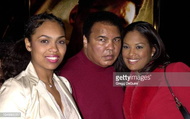 Muhammad Ali Daughters Hana Leila during 'Ali' Los Angeles Premiere at Chinese Theater in Hollywood California United States