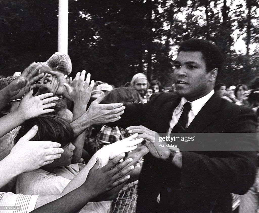 Muhammad Ali during 1979 Special Olympics at SUNY Brockport Campus in Brockport, New York, United States.