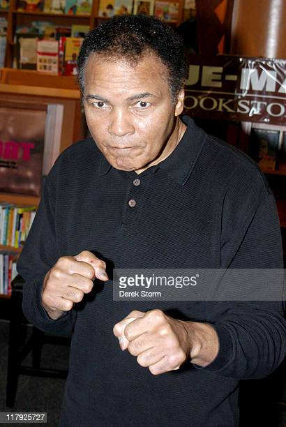 Muhammad Ali during Muhammad Ali and Daughter Hana Ali Promote Their New Book 'The Soul of a Butterfly' at HueMan Bookstore in New York City New York...