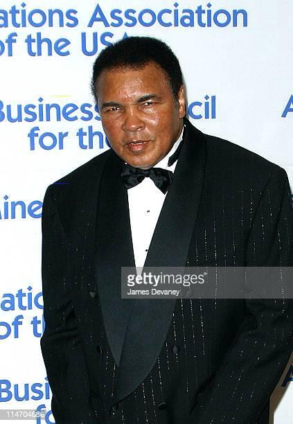 Muhammad Ali during United Nations Association 2002 Global Leadership Awards at Sheraton Hotel in New York City, New York, United States.