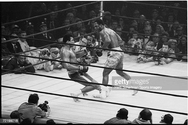 Muhammad Ali fights Joe Frazier in Madison Square Garden on March 8 1971 in New York City New York Frazier defeated Ali in 15 rounds