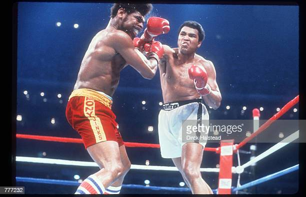 Muhammad Ali fights Leon Spinks September 15 1978 at the Superdome in New Orleans LA Ali fights this rematch bout with Spinks after he relinquished...