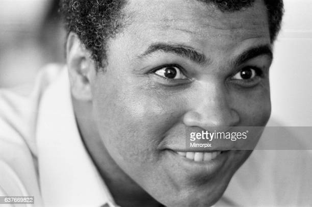 Muhammad Ali former Heavyweight Champion in the Bahamas for his fight with Trevor Berbick 17th November 1981