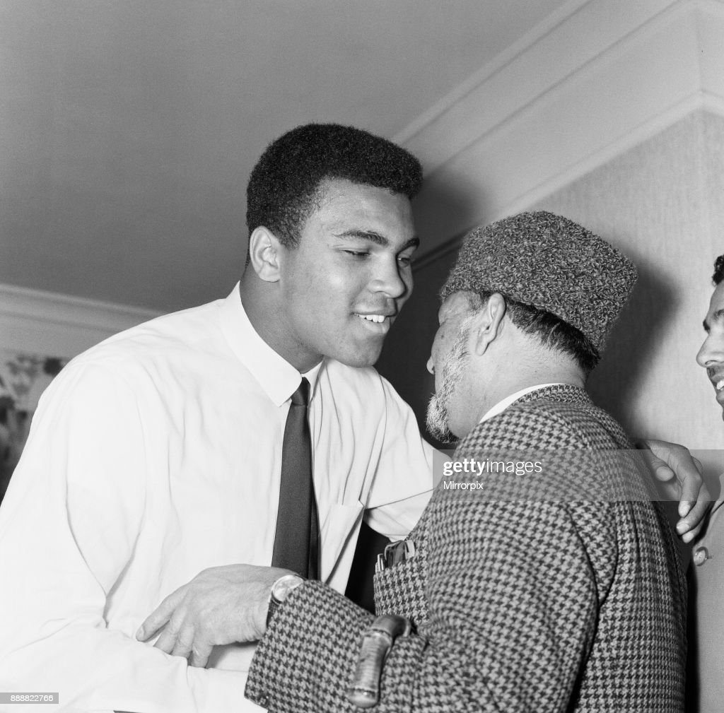 Muhammad ali pictures getty images muhammad ali cassius clay greeting muslims at a public speaking about islam ali m4hsunfo