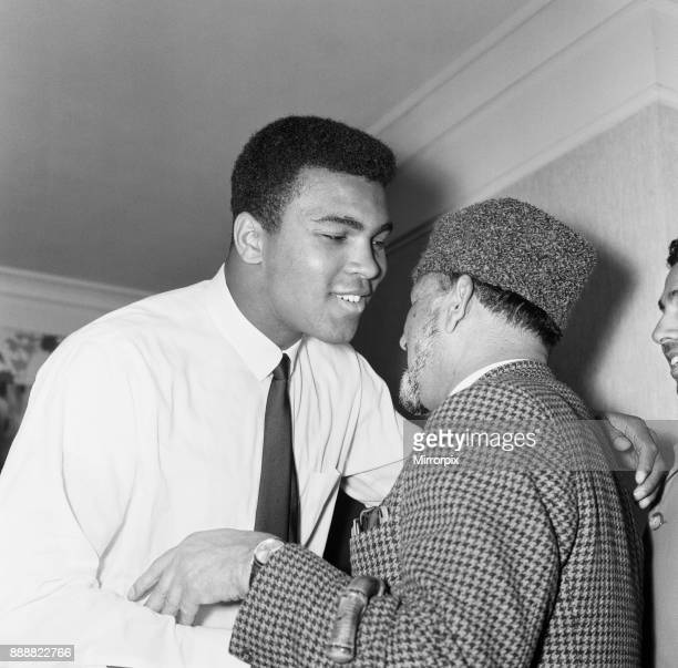 Muhammad Ali greeting muslims at a public speaking about Islam Ali is in London for of his rematch with British Heavyweight Henry Cooper to be held...