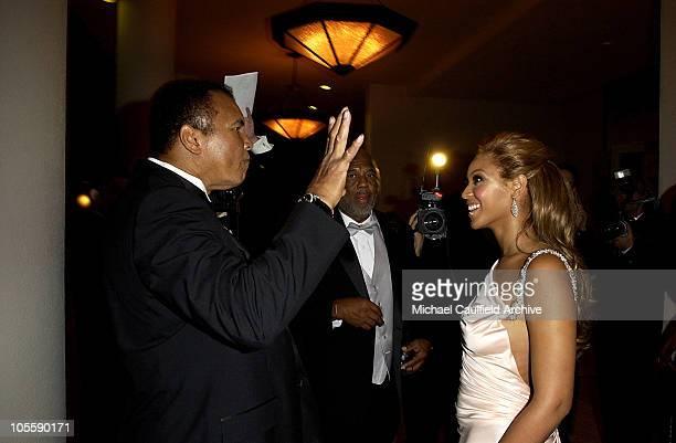Muhammad Ali Howard Bingham and Beyonce during Mercedes Benz Presents the 16th Annual Carousel Of Hope Gala VIP Reception at Beverly Hilton Hotel in...