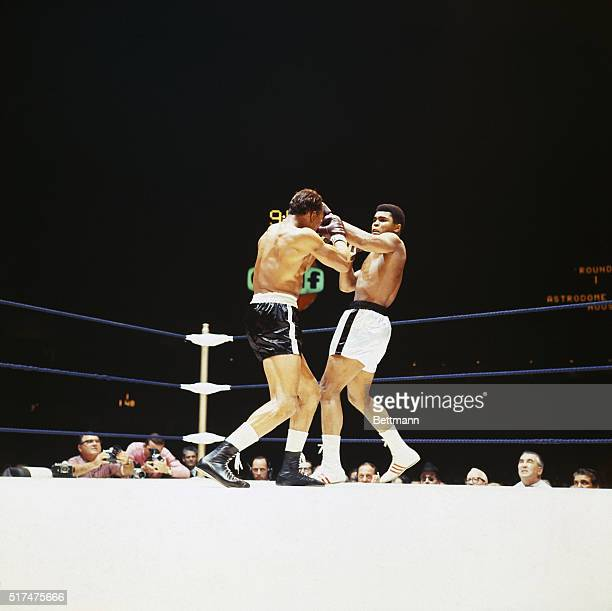 Muhammad Ali in fight with challenger Cleveland Williams in which Ali retained his heavyweight title