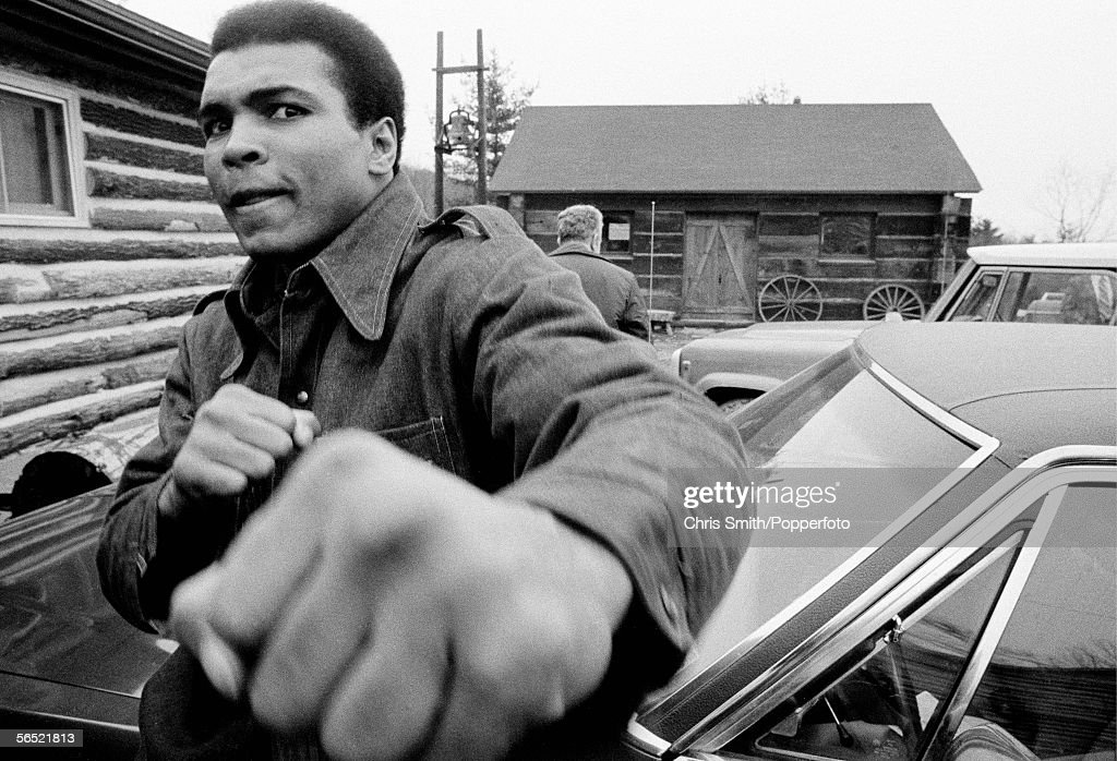 Muhammad Ali in training for his second fight against Joe Frazier at Deer Lake, Pennsylvania on 24th January 1974. Ali won the non-title boxing match by a unanimous decision. (Photo by Chris Smith/Popperfoto/Getty Images