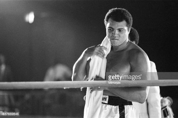 Muhammad Ali is fighting his way back to fitness in his Bahamas training camp He vowed to lose 1 1/2 stone before his big fight with heavyweight...