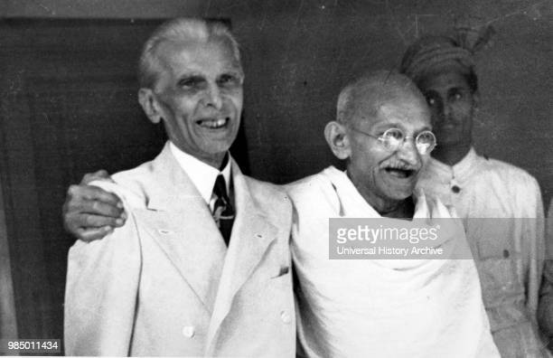 Muhammad Ali Jinnah lawyer politician and the founder of Pakistan with Mahatma Gandhi in 1946 Jinnah served as leader of the AllIndia Muslim League...