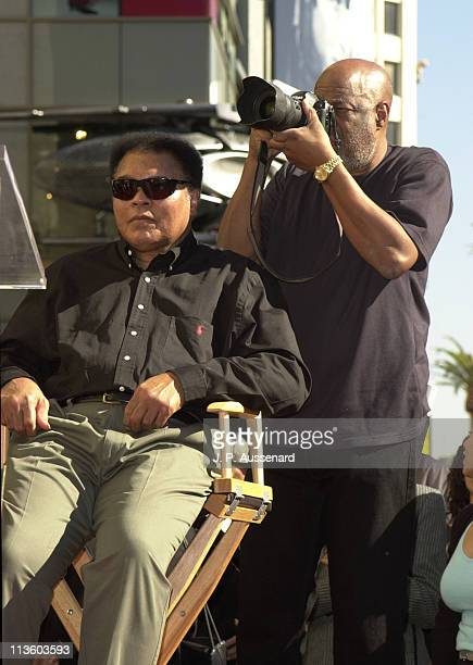 Muhammad Ali longtime friend Howard Bingham during Muhammad Ali Celebrates his 60th Birthday with a Star on the Hollywood Walk of Fame at Hollywood...