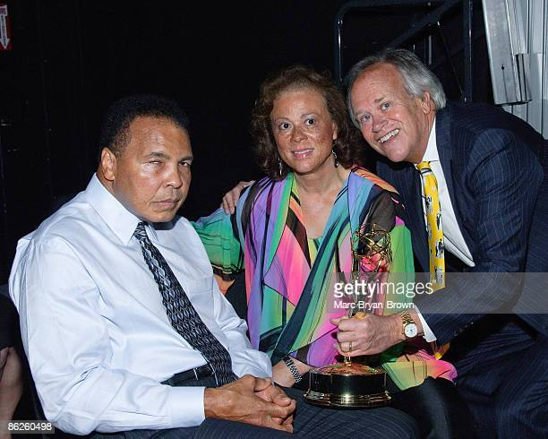 Muhammad Ali Lonnie Ali and Dick Ebersol attend the 30th annual Sports Emmy awards at Frederick P Rose Hall on April 27 2009 in New York City