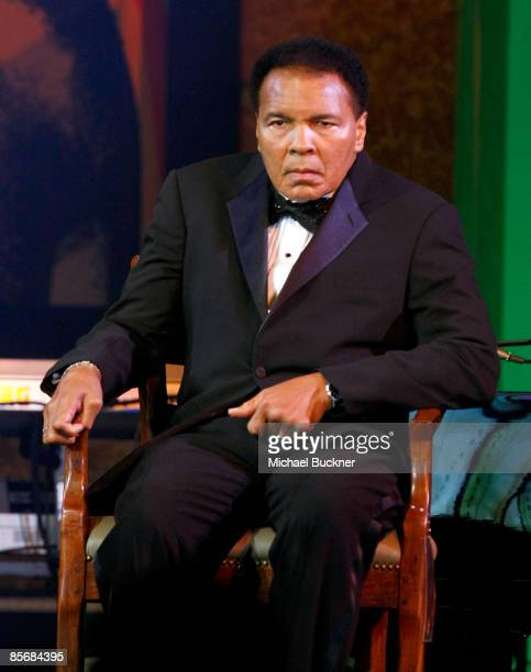 Muhammad Ali looks on during Muhammad Ali's Celebrity Fight Night XV held at the JW Marriott Desert Ridge Resort Spa on March 28 2009 in Phoenix...