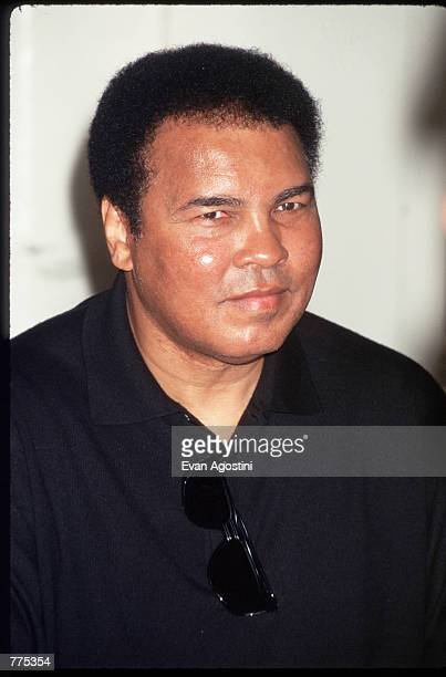 Muhammad Ali poses for a picture October 16 1996 at a book signing in the USA Ali was born Cassius Marcellus Clay January 17 1942 in Louisville...