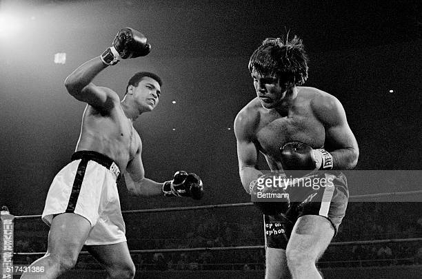 Muhammad Ali shuffled and danced to a seventh round TKO victory over Jerry Quarry in the scheduled 12rounder for North American title bout in Las...