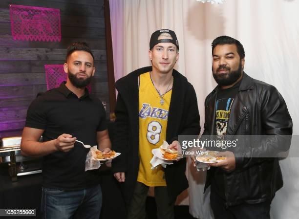 Muhammad Ali Talon Reid and Adrian Dev attend Espolòn Celebrates Day of the Dead at Academy Nightclub on November 1 2018 in Hollywood California