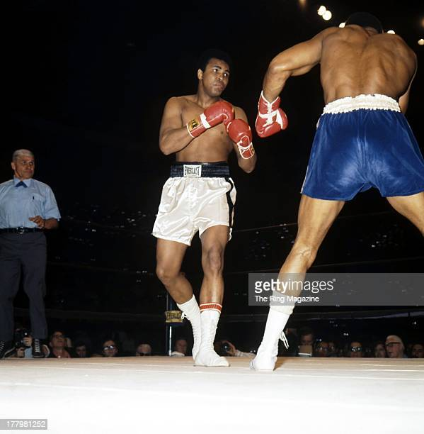 Muhammad Ali throws a punch against Ken Norton during the fight at Sports Arena in San DiegoCalifornia Ken Norton won the NABF heavyweight title by a...