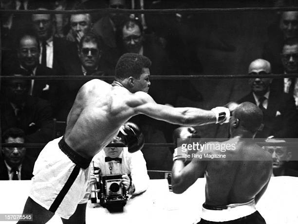 Muhammad Ali throws a right hook against Doug Jones during the fight at Madison Square Garden on March 13 1963 in New YorkNew York Muhammad Ali won...